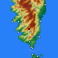 Nearby Forecast Locations - Aullène - Χάρτης