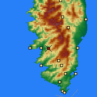 Nearby Forecast Locations - Cauro - Χάρτης