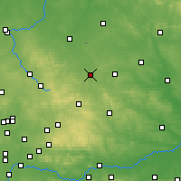 Nearby Forecast Locations - Obiechów - Χάρτης