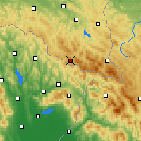 Nearby Forecast Locations - Żubracze - Χάρτης