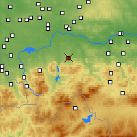 Nearby Forecast Locations - Andrychów - Χάρτης