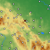Nearby Forecast Locations - Dzierżoniów - Χάρτης