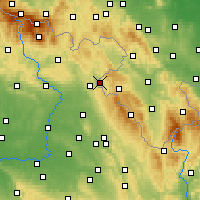 Nearby Forecast Locations - Kudowa-Zdrój - Χάρτης