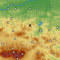 Nearby Forecast Locations - Limanowa - Χάρτης