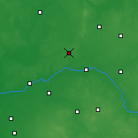 Nearby Forecast Locations - Ostrów Mazowiecka - Χάρτης