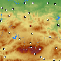 Nearby Forecast Locations - Rabka-Zdrój - Χάρτης