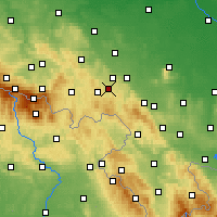 Nearby Forecast Locations - Wałbrzych - Χάρτης