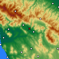Nearby Forecast Locations - Πράτο - Χάρτης