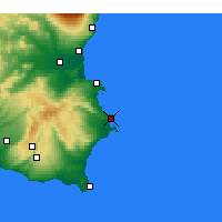 Nearby Forecast Locations - Συρακούσες - Χάρτης