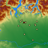 Nearby Forecast Locations - Busto Arsizio - Χάρτης