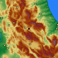 Nearby Forecast Locations - Λ' Άκουιλα - Χάρτης