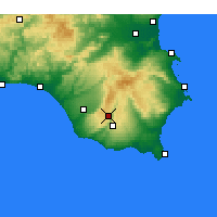 Nearby Forecast Locations - Ragusa - Χάρτης