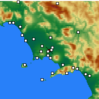 Nearby Forecast Locations - Afragola - Χάρτης