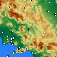 Nearby Forecast Locations - Μπενεβέντο - Χάρτης