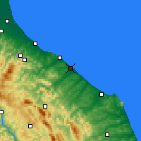 Nearby Forecast Locations - Fano - Χάρτης