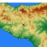 Nearby Forecast Locations - Caltanissetta - Χάρτης