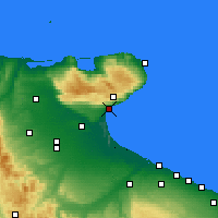 Nearby Forecast Locations - Manfredonia - Χάρτης