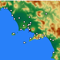 Nearby Forecast Locations - Ercolano - Χάρτης