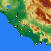 Nearby Forecast Locations - Velletri - Χάρτης