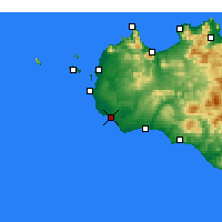 Nearby Forecast Locations - Mazara del Vallo - Χάρτης
