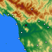 Nearby Forecast Locations - Λούκκα - Χάρτης