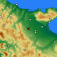Nearby Forecast Locations - Lucera - Χάρτης