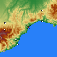 Nearby Forecast Locations - Σαβόνα - Χάρτης