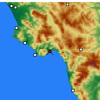 Nearby Forecast Locations - Policastro Bussentino - Χάρτης