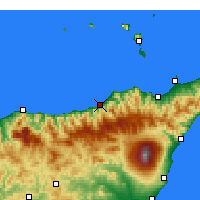 Nearby Forecast Locations - Sant'Agata di Militello - Χάρτης