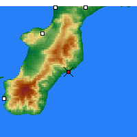 Nearby Forecast Locations - Roccella Ionica - Χάρτης