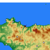Nearby Forecast Locations - Termini Imerese - Χάρτης