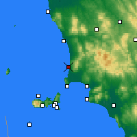 Nearby Forecast Locations - San Vincenzo - Χάρτης