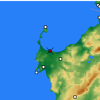 Nearby Forecast Locations - Porto Torres - Χάρτης