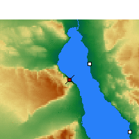 Nearby Forecast Locations - Wade El Dom Marina - Χάρτης