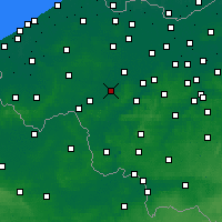 Nearby Forecast Locations - Waregem - Χάρτης