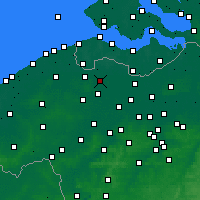 Nearby Forecast Locations - Eeklo - Χάρτης