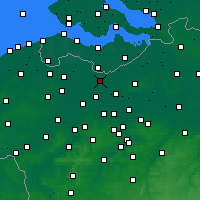 Nearby Forecast Locations - Wachtebeke - Χάρτης