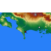 Nearby Forecast Locations - Puerto Armuelles - Χάρτης