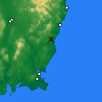 Nearby Forecast Locations - Gorey - Χάρτης