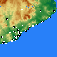 Nearby Forecast Locations - Mataró - Χάρτης