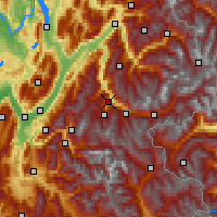 Nearby Forecast Locations - Saint-Jean-de-Maurienne - Χάρτης