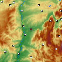 Nearby Forecast Locations - Bourg-de-Péage - Χάρτης