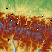 Nearby Forecast Locations - Bagnères-de-Luchon - Χάρτης
