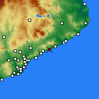 Nearby Forecast Locations - Canet de Mar - Χάρτης