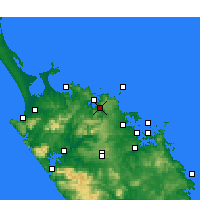 Nearby Forecast Locations - Kaeo - Χάρτης