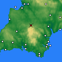 Nearby Forecast Locations - Okehampton - Χάρτης