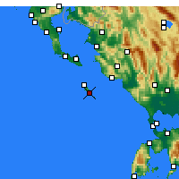 Nearby Forecast Locations - Gaios - Χάρτης