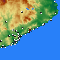 Nearby Forecast Locations - Sant Andreu de Llavaneres - Χάρτης