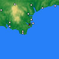 Nearby Forecast Locations - Dartmouth - Χάρτης