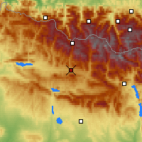 Nearby Forecast Locations - Χάκα - Χάρτης